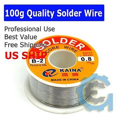 6337 Tin Lead Rosin Core Flux 0.6mm Diameter Soldering Solder Wire 100g 65ft