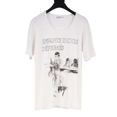 Brand New Enfants Riches Deprimes FW19 Deaf Child White Logo T Shirt Size XS