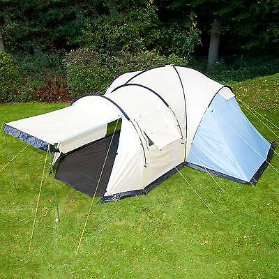 skandika Toronto 6 Personen Camping/Familienzelt 3 Kabinen Moskitonetze Neu