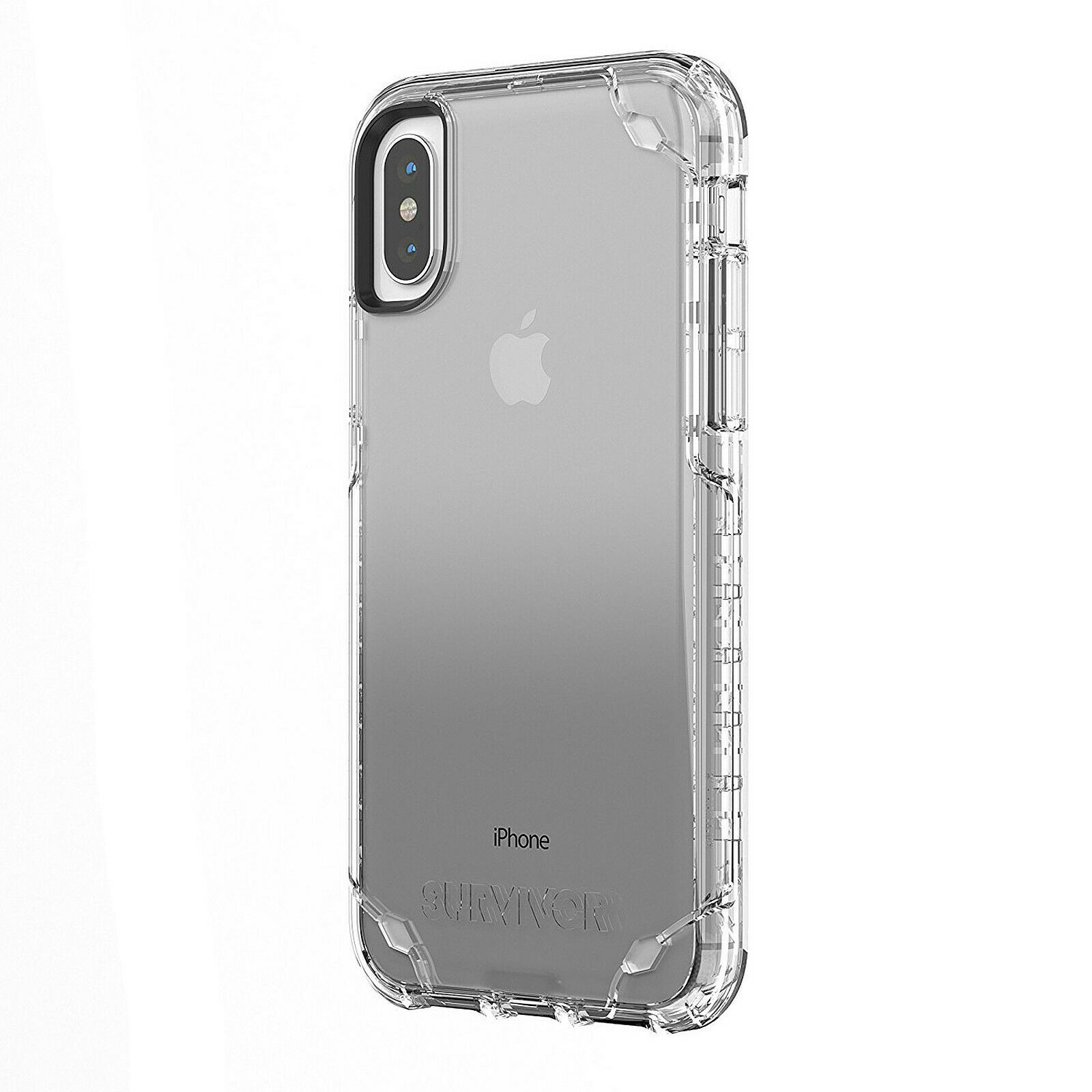 Coque iPhone X et Xs, Premium TPU Souple Silicone-TRANSPARENT