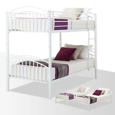 Twin Over Twin Metal Bunk Bed Frame Convertible Frames or 2 Twin Size Bed Frames