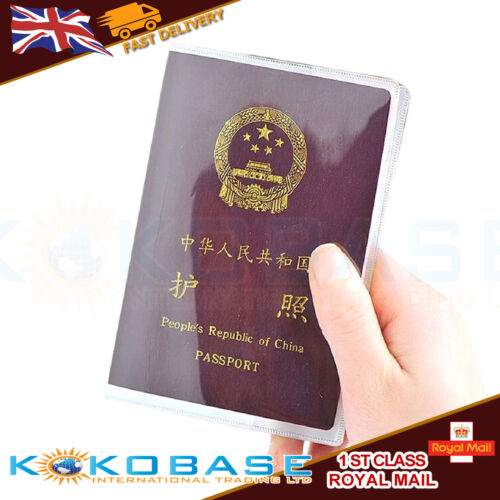 Passport Cover  and Travel Document Premium Holder Clear & F