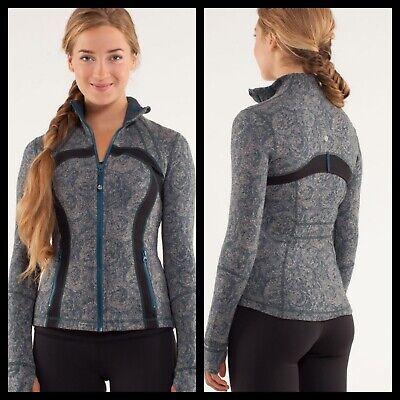 Lululemon Define Jacket Brushed Rose Herringbone Alberta Lake Black Size 2
