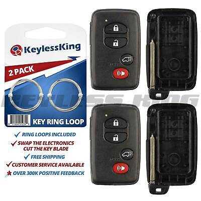 2 Replacement Keyless Entry Remote Car Key Fob Smart Case Shell For HYQ14AAB