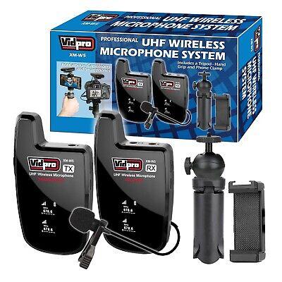 Profesional Uhf Inalámbrico Micrófono Sistema Para GOPRO Hero sony Phones Cámara