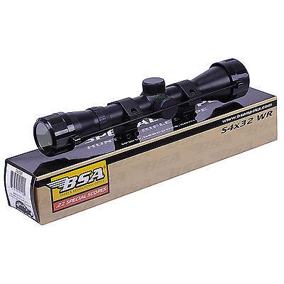 "BSA WR 4x32 TELESCOPIC Air Gun Rifle SCOPE Sight Hunting With 11mm 3/8"" Mounts"