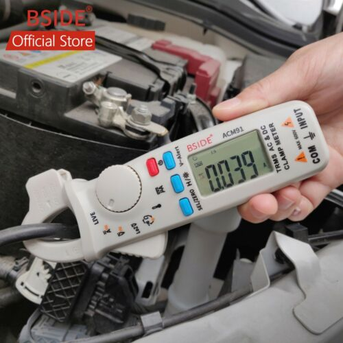 BSIDE ACM91 AC/DC Car Digital Clamp Meter Auto-Range NCV Temp Low Current T-RMS