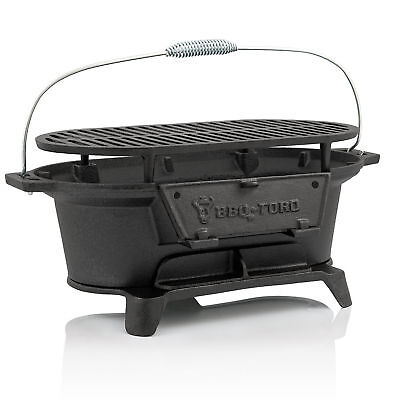 Gusseisen Grills (BBQ-Toro Gusseisen Grilltopf mit Grillrost Hibachi Style Holzkohle Campinggrill)