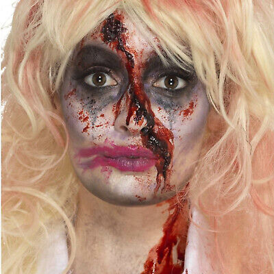 Zombie Monster Horror Nurse Scab Blood Wound Fancy Dress Face Paint Make Up Kit - Halloween Makeup Zombie Nurse