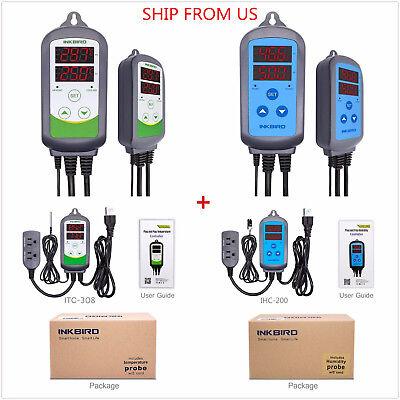 Us Plug 110v Digital Temperature Controller Humidity Control Itc-308 Ihc-200