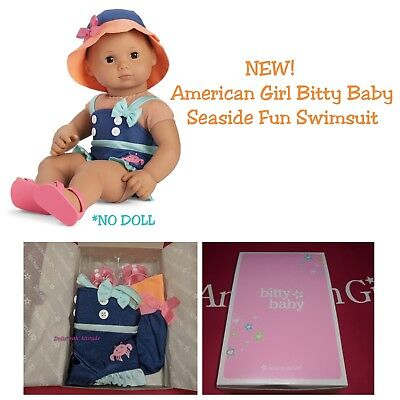 American Girl Bitty Baby or Twins Seaside Fun Swimsuit Swim Suit New In Box