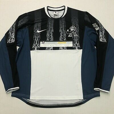 Nike x Cav Empt LS Shirt Top White Blue Black Silver AR1400 010 Mens Size Medium
