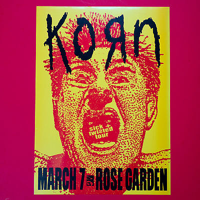 KORN 2000 original 12.5x17.25 Sick & Twisted Tour Litho Poster. Portland OR.