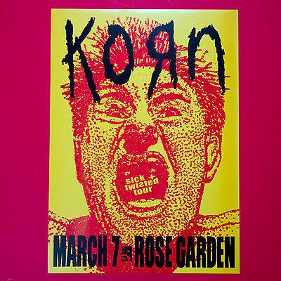 KORN 2000 original 12.5 x 17.25 Sick & Twisted Tour Litho Poster. Portland OR.