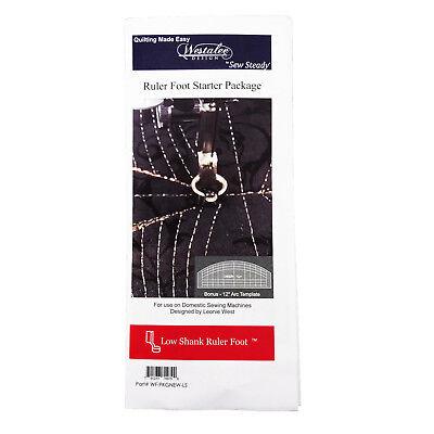 Westalee Design Ruler Foot Starter Kit W/Template, Low Shank