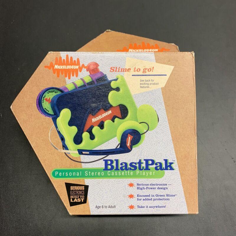 Vintage Nickelodeon BlastPak Cassette Player 1995 NEW In Box Promo Radio Nick