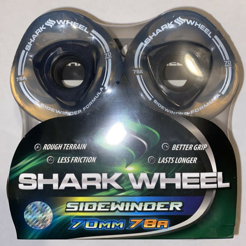 Shark Wheels Longboard Skateboard Sidewinder 70mm 78a Clear