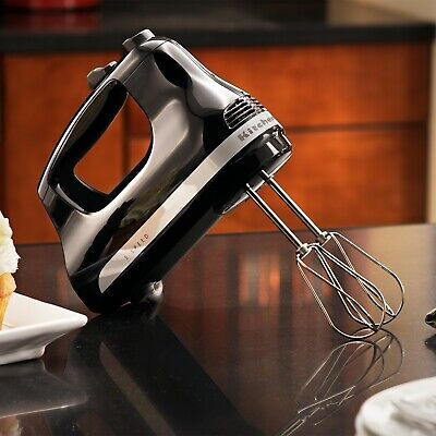NEW KitchenAid 5 Speed Ultra Power Hand Mixer Onyx Black