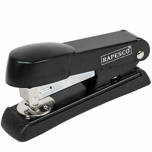 Rapesco Black Metal Half-Strip Stapler 24/6 26/6 Office Desk Heavy Duty Durable