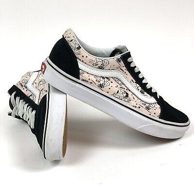 VANS x Peanuts Old Skool Pink/Black Snoopy Shoes Size Women's 8/Men's 6.5 RARE