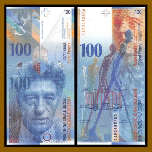 Switzerland 100 Francs, 2014 P-72j Swiss National Bank Unc