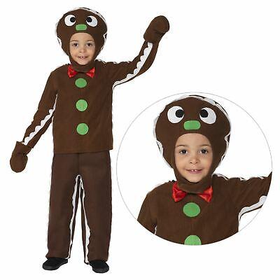 Kinder Jungen Little Lebkuchenmann Cookie Weihnachten Kostüm Krippenspiel Kostüm