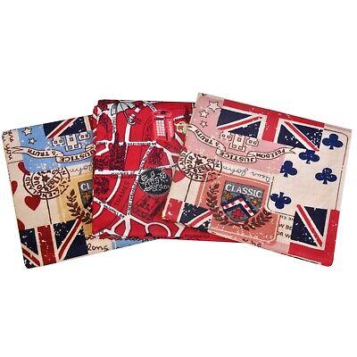 ultiMade Stofftaschentücher Einstecktücher im 3er Set aus Baumwolle: London