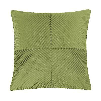 Gefüllt Olivgrün Inspiral Streifen Chenille Dick Weich 45.7cm - 45cm Kissen - Grüne Dicke Streifen