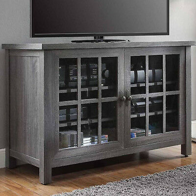 TV STAND CONSOLE Table Entertainment Center 55 Inch Media Storage Cabinet Gray