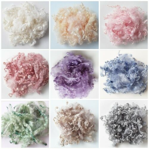 20g or 40g Hand Washed, Hand Dyed Curls, Needle Felting, Spinning, 9 Colours