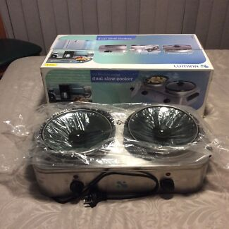 Dual slow cooke's, 2 new in box. Great for Parties