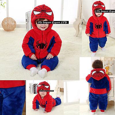 Baby Spider Man Kostüme (Spiderman Costume Carnevale Calda Tuta Bambino Baby Boy Costume Onesie SPBABY01)