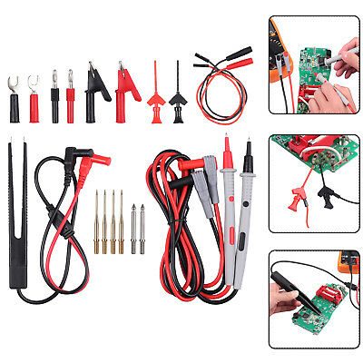 21 In 1 Electrical Multimeter Banana Plug Alligator Clips Probe Test Lead Kits