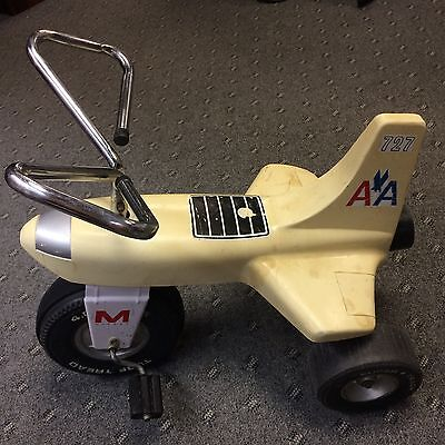 RARE VINTAGE MURRY AMERICAN AIRLINES AIRPLANE TRICYCLE, PEDAL CAR