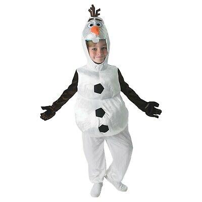 Boys Kids Olaf Snowman Official Disney Frozen Book Day Fancy Dress Costume (Frozen Kostüm Boy)