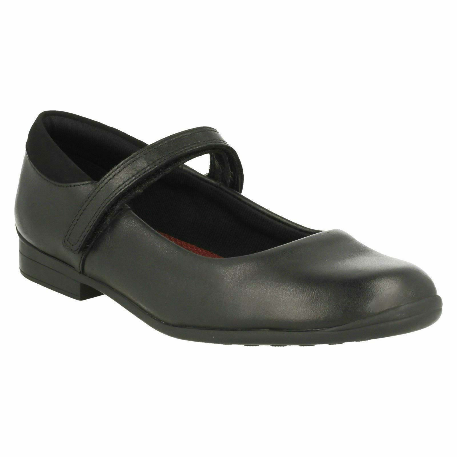 JAMIE STAR GIRLS CLARKS INFANT RIPTAPE STRAP CASUAL LEATHER SCHOOL SHOES SIZE