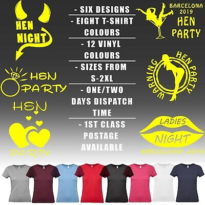 Hen party Custom six designs T Shirt  Personalised City Year Eight colours top