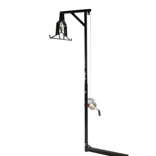 Hitch-Mounted Big Game Hunting Deer Hoist with Winch Lift Gambrel 500lb Capacity