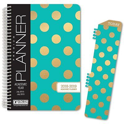 Hardcover Academic Year Planner 2018-2019 Turquoise