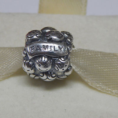 New Authentic Pandora Charm 791039 Love & Family Sterling Silver  Box Included