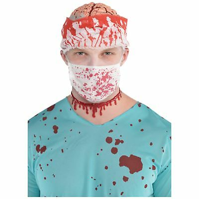 Bloody Surgeon Mask Horror Gory Halloween Fancy Dress Costume Accessory - Bloody Gory Halloween Costumes