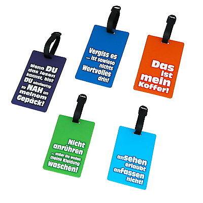 5-stück Gepäck (5 Stück Kofferanhänger Kofferschilder Namensschilder Koffer Gepäck Anhänger )