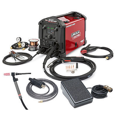 Lincoln Power Mig 210 Mp Multi-process Mig Stick Welder With Tig Kit K4195-2
