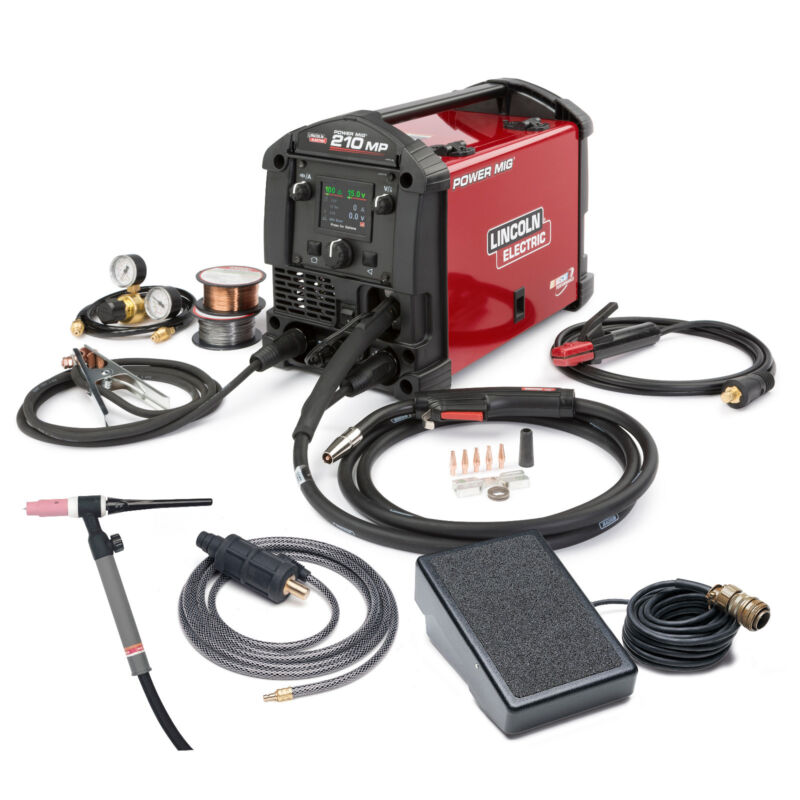 Lincoln Power MIG 210 MP Multi-Process MIG & Stick Welder with TIG Kit K4195-2