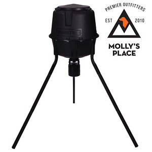 Moultrie MFG-13055, 30 Gal 360° Programmable 200 lb Cap Tripod Deer Game Feeder