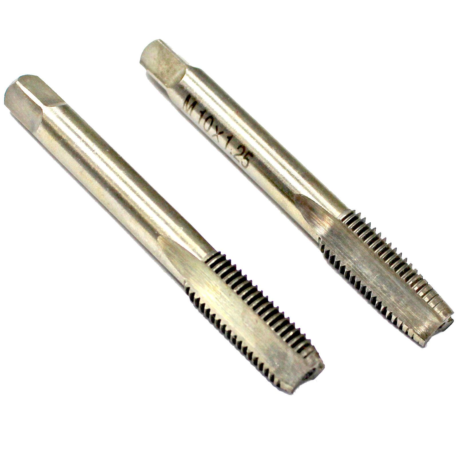 HSS 12mm x1.25 Metric Taper and Plug Tap Right Hand Thread M12x1.25mm Pitch
