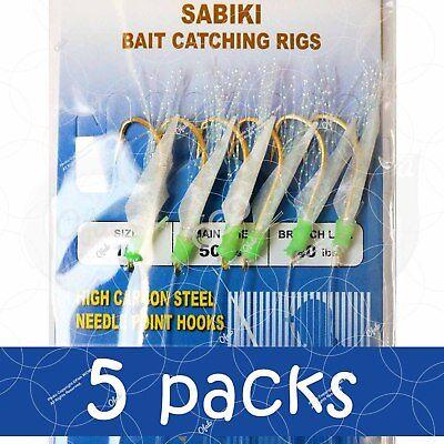 "15 Pairs 15 Packs 3/"" rock cod rigs purple two bulb squid rigged rockfish baits"