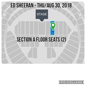 Ed Sheeran - (2) AWESOME FLOOR SEATS - Thu/Aug 30