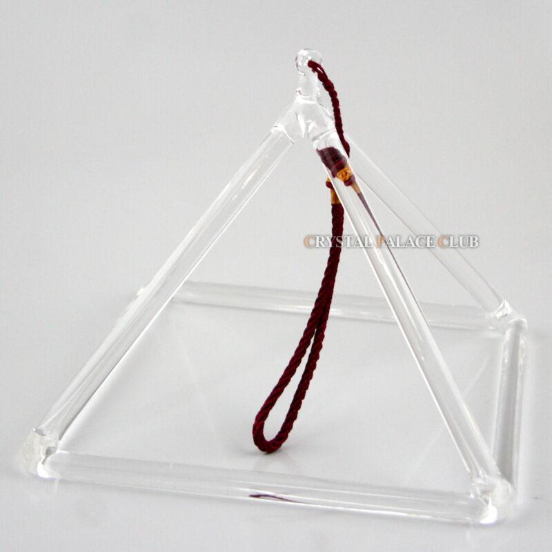 Optically Clear Quartz Crystal Singing Pyramid 8 Inch