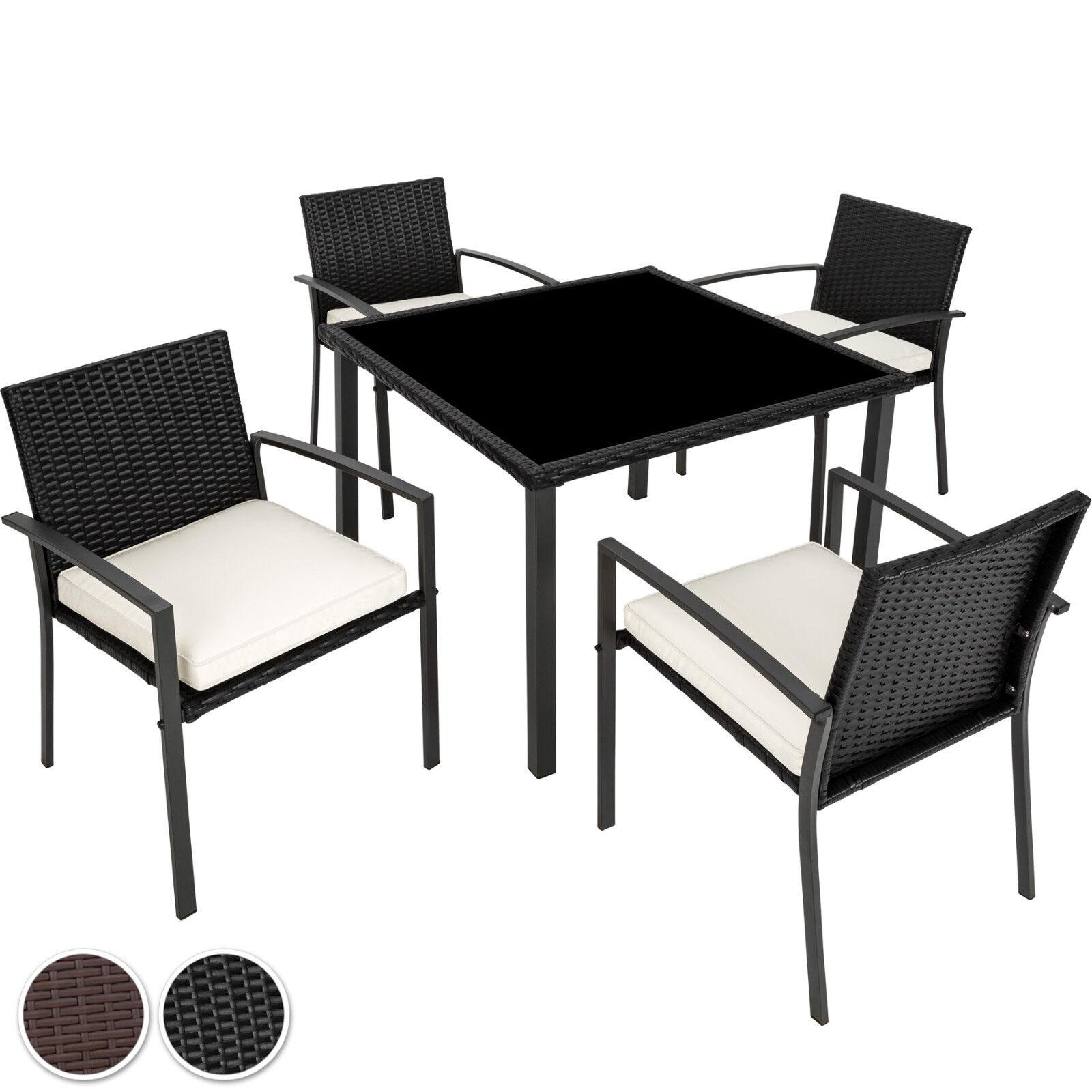 Poly Rattan Gartenmöbel Set Garnitur Sitzgarnitur Stuh…  